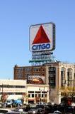 Citgo Zeichen, Boston-Grenzstein Lizenzfreies Stockfoto