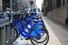Citi自行车线 免版税图库摄影