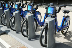 Citi自行车驻地准备好事务在纽约 库存照片