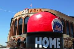 Citi领域,棒球协会队的家在冲洗, NY的纽约大都会。 库存照片