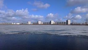 Citi на озере Стоковая Фотография