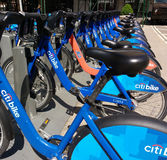 Citi Bike Bicycle Sharing System in New York City, USA Stock Photography