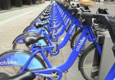 Citi Bike display, New York City Royalty Free Stock Image