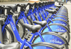 Citi Bike display, New York City Stock Photography