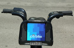 Citi bike in Lower Manhattan Royalty Free Stock Photo