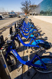 Citi Bike in NYC. New York City, USA - February 10, 2014: Citi Bike is New York City's bike sharing system on February 2014. Intended to provide people with an Royalty Free Stock Photo