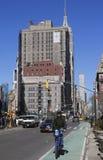 Citi bike rider at Madison Square in Lower Manhattan. Stock Photo