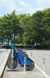 Citi bike station in Lower Manhattan Stock Photo