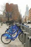 Citi bike station In Lower Manhattan Stock Photos