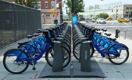 Citi bike station in Manhattan Royalty Free Stock Image