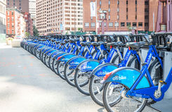 Citi bike station in Manhattan Royalty Free Stock Photos