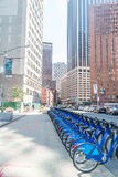 Citi bike station in Manhattan Royalty Free Stock Photography