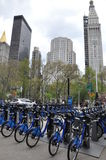 Citi bike station in Manhattan Stock Photography