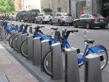 Citi bike station in Manhattan Stock Image