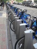 Citi bike station in Manhattan Royalty Free Stock Photo