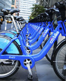 Citi bike station near World Trade Center site in Lower Manhattan Royalty Free Stock Photo