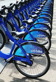 Citi bike station ready for business in New York Royalty Free Stock Images
