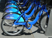 Citi bike station in Williamsburg section of Brooklyn Stock Photography
