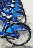 Citi bikes pronto para o negócio em New York fotos de stock royalty free