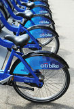 Citi bikes ready for business in New York Royalty Free Stock Photos