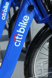 Citi bikes ready for business in New York Stock Photos