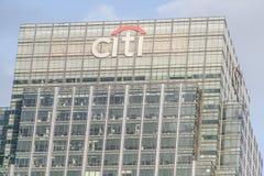 CITI Building citibank at Canary Wharf - London England  UK Royalty Free Stock Photos