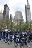 Citi cykelstation i Manhattan Arkivbild