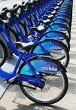 Citi cykelstation som är klar för affär i New York Royaltyfria Bilder