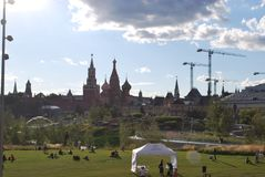 Citi de Moscou imagens de stock