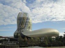 Citi du Vin, il museo internazionale del vino, Bordeaux fotografia stock libera da diritti