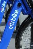 Citi fait du vélo prêt pour des affaires à New York Photos stock