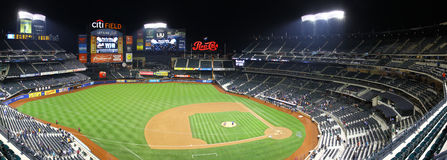 Citi field at night Royalty Free Stock Image