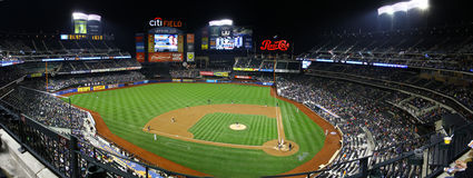 Citi field at night Royalty Free Stock Images