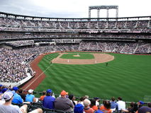 Citi Field Players and Fans - New York City Royalty Free Stock Image