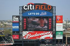 Citi Field Scoreboard Stock Photography