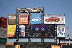 Citi Field Scoreboard - New York Mets Royalty Free Stock Photography