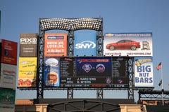 Citi Field Scoreboard - New York Mets Royalty Free Stock Photography