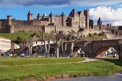 Citi il de Carcassonne Fotografia Stock