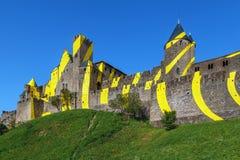Citi il de Carcassonne, Francia fotografie stock libere da diritti