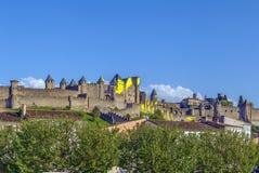 Citi il de Carcassonne, Francia immagini stock libere da diritti