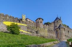 Citi il de Carcassonne, Francia fotografia stock