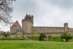 Citi il de Carcassonne, Francia fotografie stock