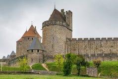 Citi il de Carcassonne, Francia immagini stock