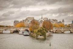 Citi l'isola ed il ponte Neuf a Parigi fotografia stock libera da diritti