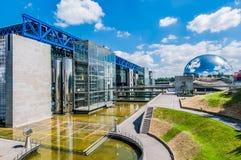 Citi la città Francia del DES sciences parc de la villette Parigi immagine stock