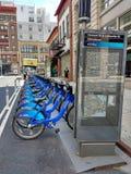 Citi roweru udzielenia Rowerowy system, Miasto Nowy Jork, usa Obrazy Royalty Free