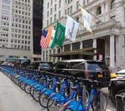 Citi roweru udzielenia Rowerowy system placu hotel, środek miasta, Manhattan, NYC, NY, usa Zdjęcie Stock