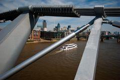 Citi and Thames from MIllenium Bridge Stock Photos