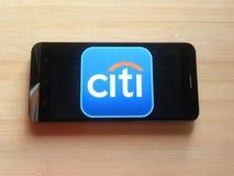 Citibank app stock foto