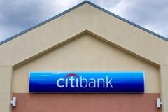 Citibank-bankbuitenkant en teken stock foto's